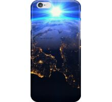 Planet Earth with a spectacular sunrise iPhone Case/Skin