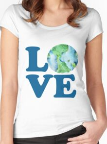 Earth Day Love Women's Fitted Scoop T-Shirt