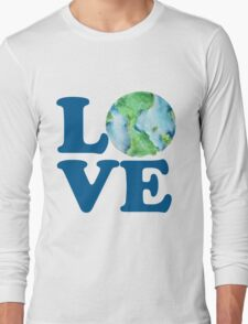 Earth Day Love Long Sleeve T-Shirt