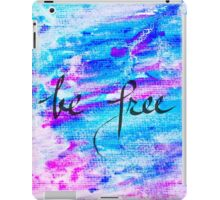 Inspirational abstract water color background iPad Case/Skin