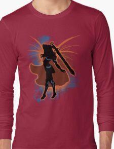 Super Smash Bros. Orange Female Corrin Silhouette Long Sleeve T-Shirt