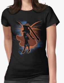 Super Smash Bros. Orange Female Corrin Silhouette Womens Fitted T-Shirt