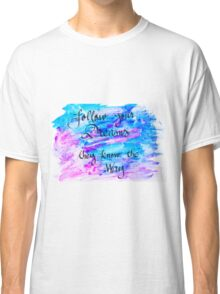 Inspirational abstract water color background Classic T-Shirt