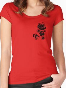Rose and Daisy Mix Women's Fitted Scoop T-Shirt