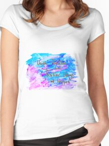 Inspirational abstract water color background Women's Fitted Scoop T-Shirt