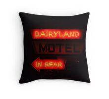 Dairlyland Motel Throw Pillow