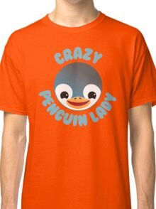 Crazy penguin lady (new in a Circle) Classic T-Shirt