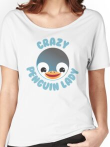 Crazy penguin lady (new in a Circle) Women's Relaxed Fit T-Shirt