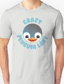 Crazy penguin lady (new in a Circle) Unisex T-Shirt