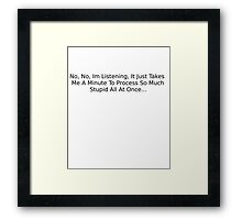 Big Bang Theory Sheldon Quote Framed Print