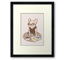 The Hipster Reader Framed Print