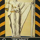 'Zeichnet 2' Vintage Poster by Roz Abellera Art Gallery