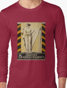 'Zeichnet 2' Vintage Poster Long Sleeve T-Shirt