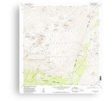 USGS TOPO Map Hawaii HI Mauna Kea 349576 1982 24000 Canvas Print