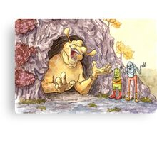 The Yellow Monster Canvas Print