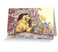 The Yellow Monster Greeting Card