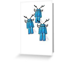 Robots Need Love Two Greeting Card