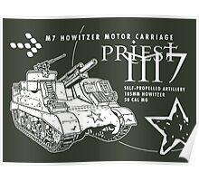M7 Howitzer - Priest Poster