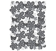 Spring Butterflies | Black and White Photographic Print