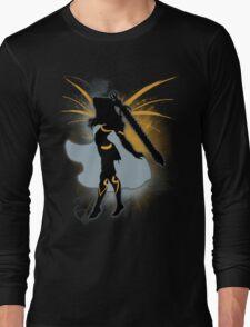 Super Smash Bros. Black Female Corrin Silhouette Long Sleeve T-Shirt