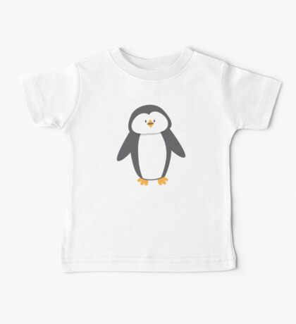 Cute little suited penguin Baby Tee