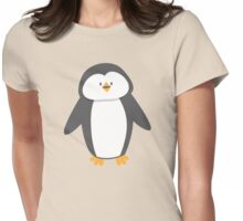 Cute little suited penguin Womens Fitted T-Shirt