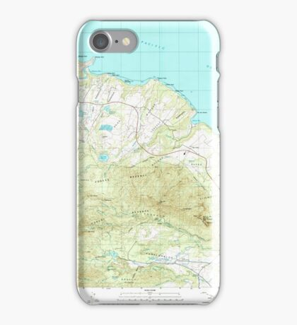 USGS TOPO Map Hawaii HI Anahola 349214 1996 24000 iPhone Case/Skin