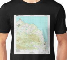 USGS TOPO Map Hawaii HI Anahola 349214 1996 24000 Unisex T-Shirt