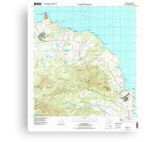 USGS TOPO Map Hawaii HI Anahola 349214 1996 24000 Canvas Print