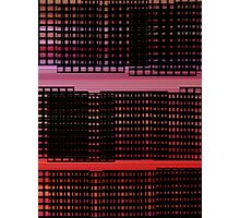 Pink and Red - Mesh Photographic Print