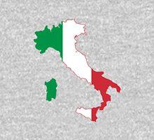 Flag Map of Italy  Unisex T-Shirt