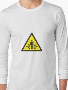 Warning of Crushing Symbol Long Sleeve T-Shirt