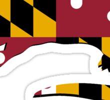 Maryland Flag River Otter Sticker