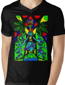 Virgin Lungs Mens V-Neck T-Shirt