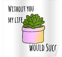 Without you my life would succ Poster