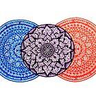 Triple Mandala (Horizontal)  by bobblehead1337