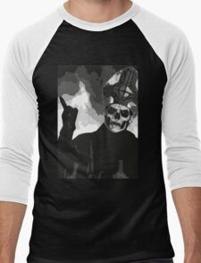Papa Emeritus II - Black & White Men's Baseball ¾ T-Shirt