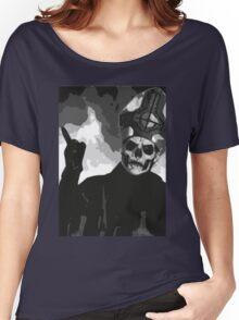 Papa Emeritus II - Black & White Women's Relaxed Fit T-Shirt