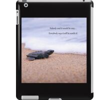 Tiny Turtle - Big Future iPad Case/Skin