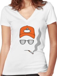 Rusty Shackleford Women's Fitted V-Neck T-Shirt