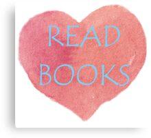 Read Books Canvas Print