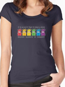 Reading Rainbow in Harmony Women's Fitted Scoop T-Shirt