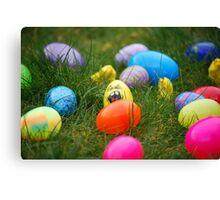 Easter egg hunt Canvas Print