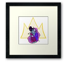Broke His Crown Framed Print