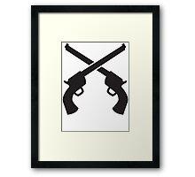 Gunslinger Guns crossed Framed Print