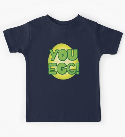 You EGG! with cracked egg NEW ZEALAND KIWI funny design Kids Tee