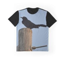 Turdus Merula - Common Blackbird | Hampton Bays, New York Graphic T-Shirt
