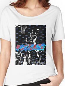 POSTERTIZE BASKETBALL Women's Relaxed Fit T-Shirt
