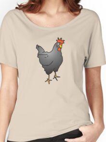 Chook hen in grey  Women's Relaxed Fit T-Shirt