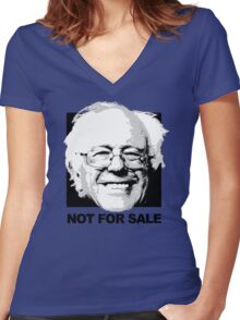Bernie is Not for Sale Women's Fitted V-Neck T-Shirt